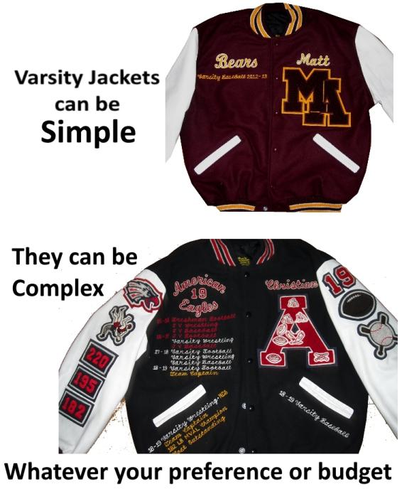 Basic and Average Varsity Letterman Jackets